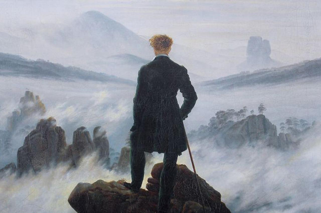 Le Voyageur contemplant une mer de nuage de Caspar David Friedrich