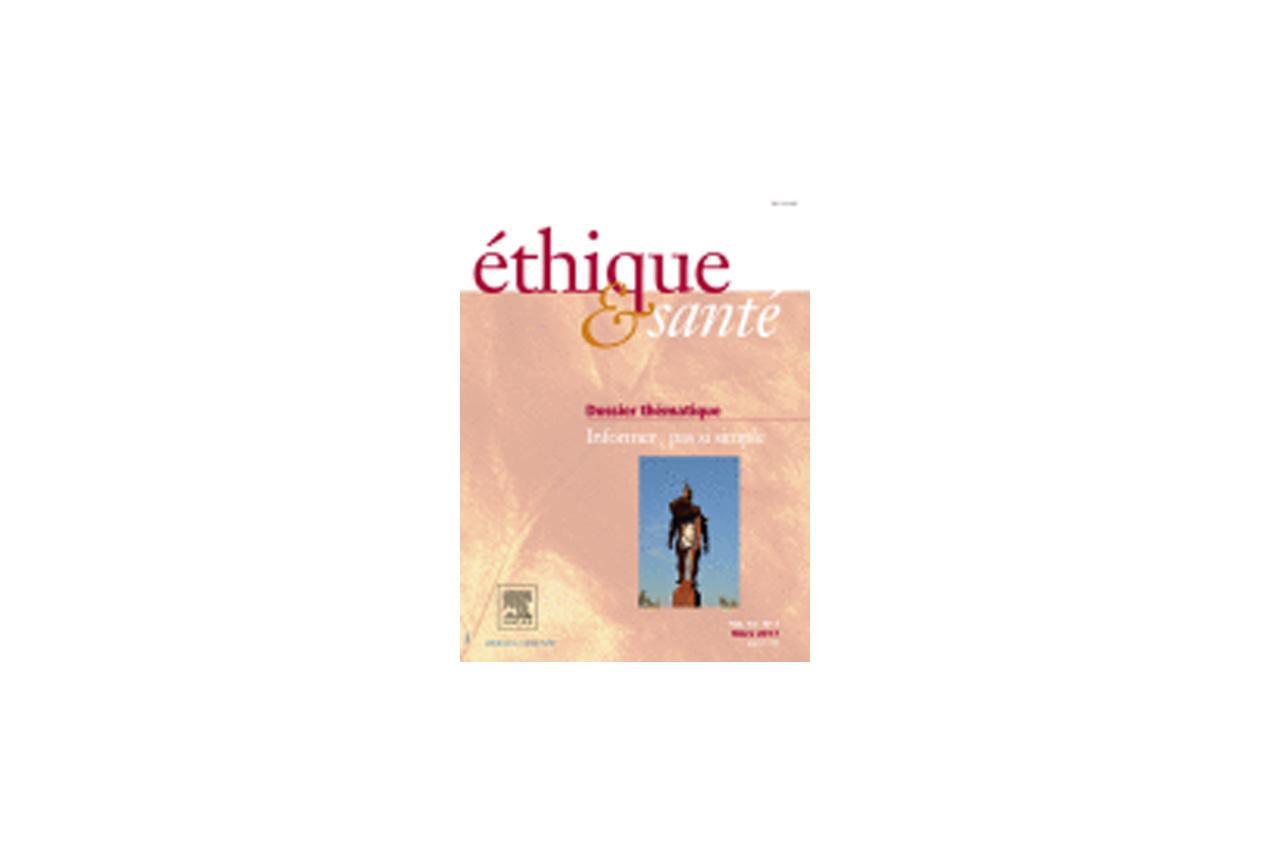 Première de couverture de la revue Ethique et Santé
