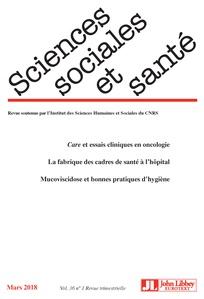 Sortie du nouveau numéro de la revue «Sciences sociales et santé»