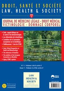 Sortie d'un numéro de la revue «Droit, santé et société» riche en éthique de la santé